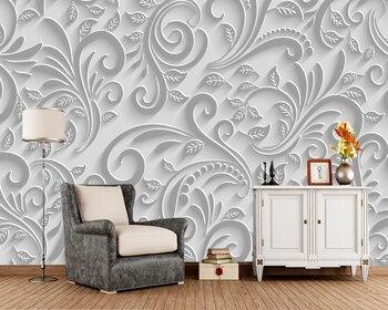 Papel de parede tracería textura planta foto 3d Papel sofá de la sala de pared de TV pared del dormitorio de Papel de decoración para el hogar