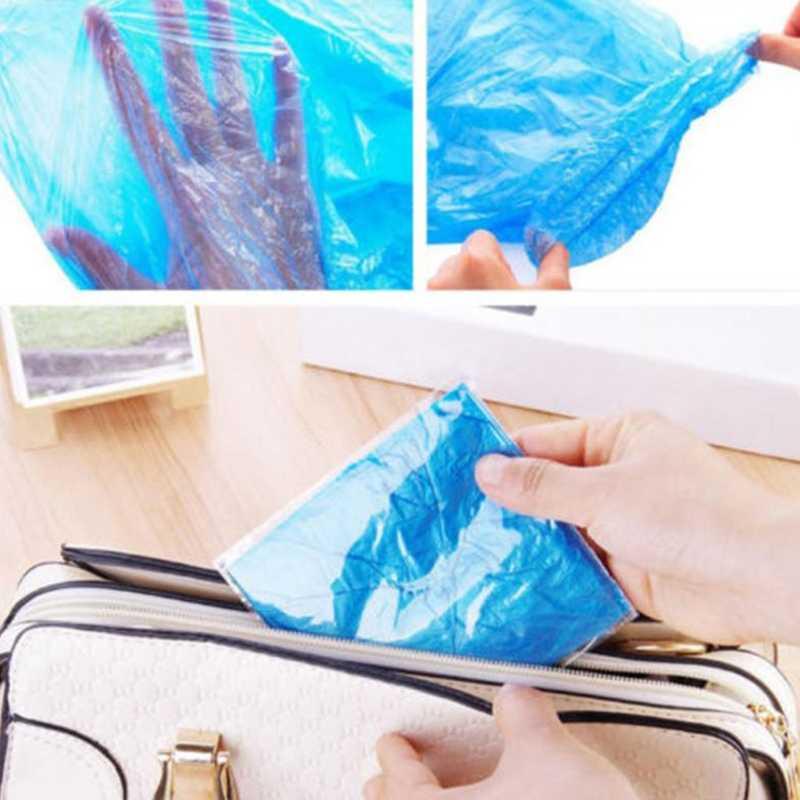 Nuevo 1 par duradero impermeable grueso plástico desechable Botas de lluvia cubre bota superior