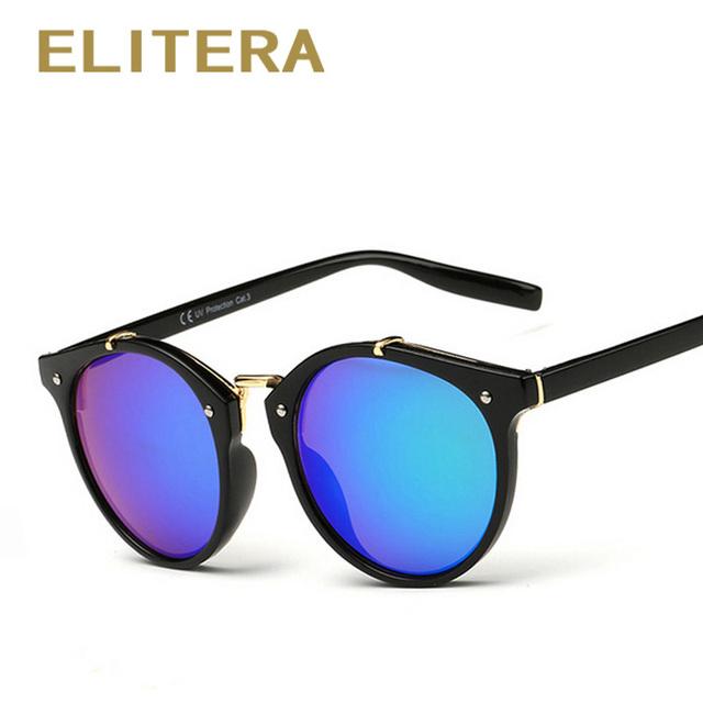 ELITERA Sunglasses Women Vintage Retro Round Sun Glasses Female Brand Designer Sunglass Unisex New Lentes De Sol Masculino