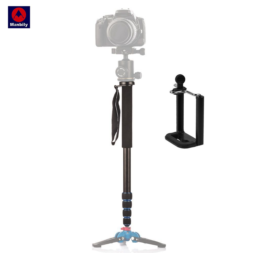 Manbily A-222 Portable Professional DSLR Camera Travel Monopod Tripod Stand Video Monopod 165cm untuk Canon Nikon Sony DV Phone