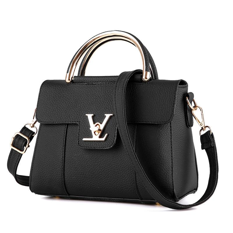 2018 Hot Flap V Women's Luxury Leather Clutch Bag Ladies Handbags Brand Women Messenger Bags Sac A Main Femme Famous Tote Bag