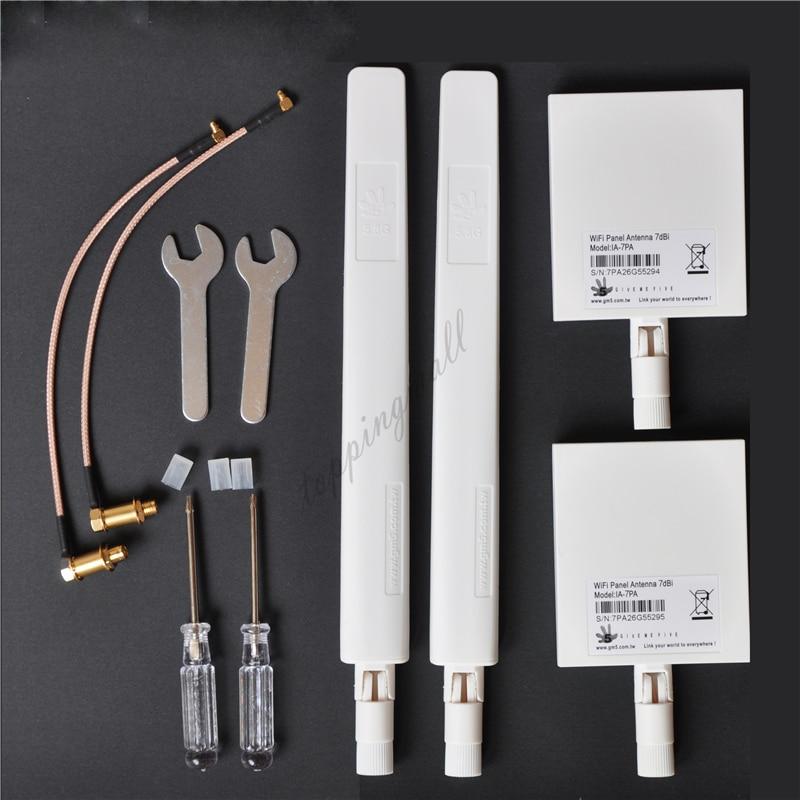 ARGtek DJI Phantom 4 PRO & PRO+ 2.4G 7dBi *2+ 5.8G 10dBi *2 WiFi Range Extender Antenna Combo
