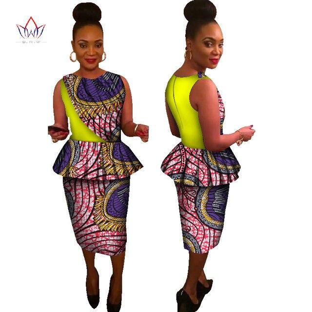 6b8db458625b Visualizzza di più. 2017 Estate Stile Africa Vestiti Africani per Le Donne  A Due Pezzi Set Top Senza Maniche