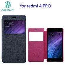 case for xiaomi redmi 4 pro case phone bag NILLKIN PU leather view window For redmi 4 redmi 4X cover redmi 4 prime case flip