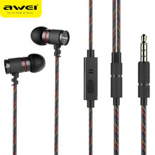 Awei ES-660i In-Ear Earphone Earbuds Sports Earphones with Microphone Noise Cancelling For Phone