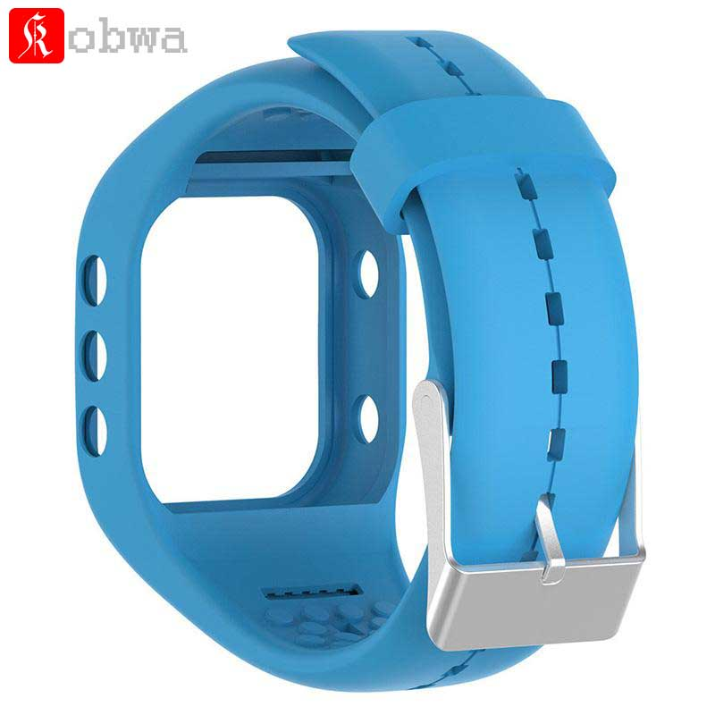 Kobwa Silicone Watchband For Polar A300 Fitness Watch Replacement Watch Strap For Polar A300 Smart Watch Wrist Bands Accessory