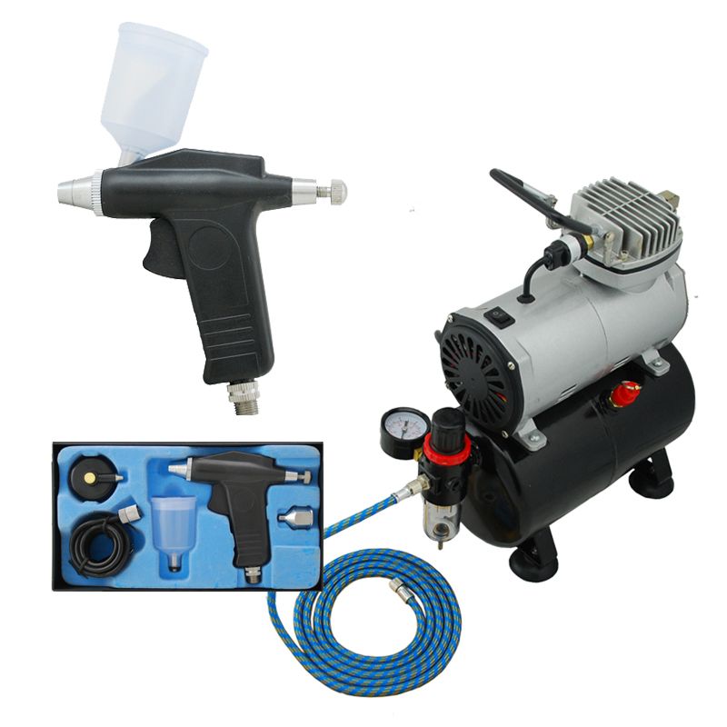 High Quality Economy Airbrushing ABK 115 T Air Compressor Kit Body Paint Temporary Tattoos