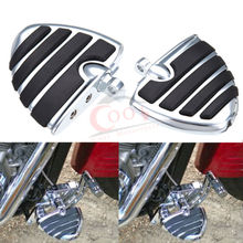 Billet Aluminum 4452 Wing Dual Foot Pegs Footpeg Footrest for Harley Road King