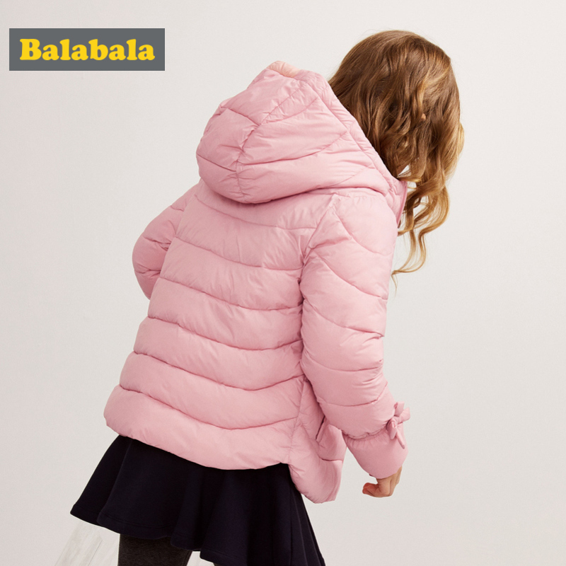 af8f9ece8 🛒 Balabala Girl Quilted Lightweight Hooded Puffer Jacket with Bow ...