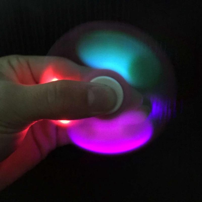 COOL LED light Fidget Hand Spinner Finger Toy EDC Focus Gyro Gift Finger Spinner  Anti Stress Toy For Kids Adult