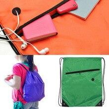 Swimming Drawstring Backpack School Beach Sport Sack Gym Tote Bag Swim Case New