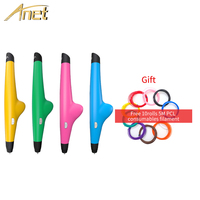 Anet 3D Pen VP05 Drawing 3D Printing Pen With 1.75mm Filament For Kids Birthday Present free 10rolls PCL Supplie 3D pen Printer