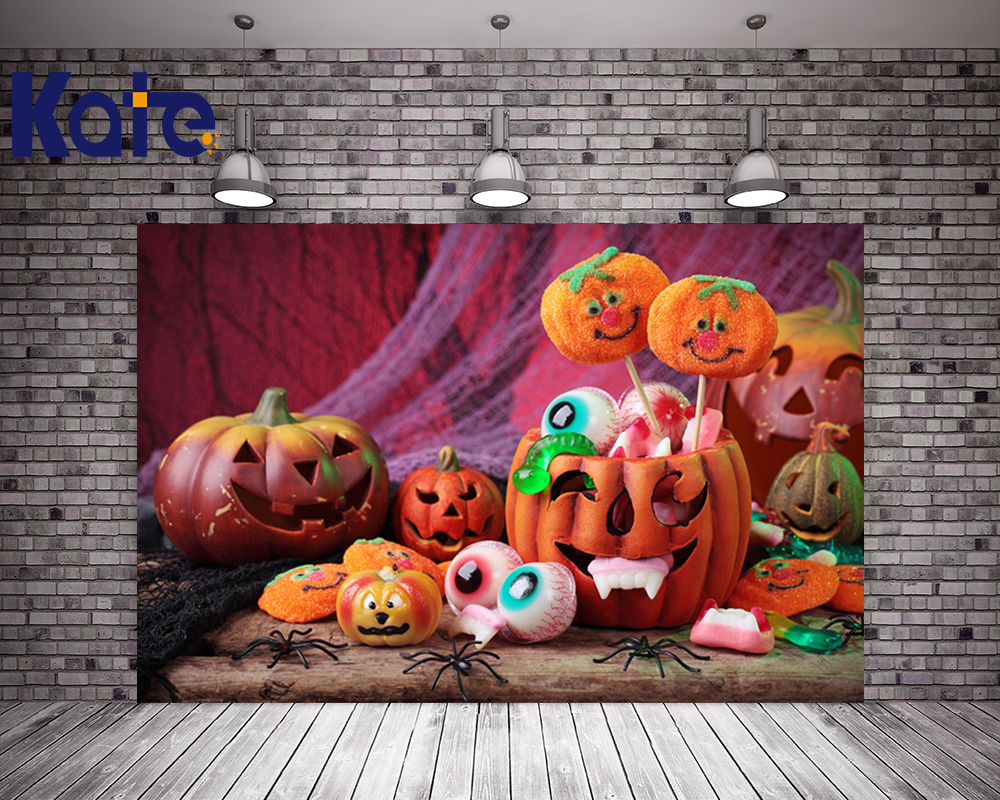 Kare Halloween Backdrop Photography Cute Pumpkin Background For Children Photo Studio Backdrops Digital Printing allenjoy background for photo studio full moon spider black cat pumpkin halloween backdrop newborn original design fantasy props