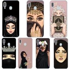 Роскошная женщина в хиджабе лицо мусульманских исламских грил глаза Силиконовый чехол для телефона для samsung A7 A10 A30 A50 A70 A9 A6 A8 Plus
