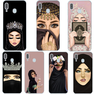 Luxury Woman In Hijab Face Muslim Islamic Gril Eyes Silicone Cover Phone Case For Samsung A51 A71 A10 A30 A50 A70 A9 A6 A8 Plus
