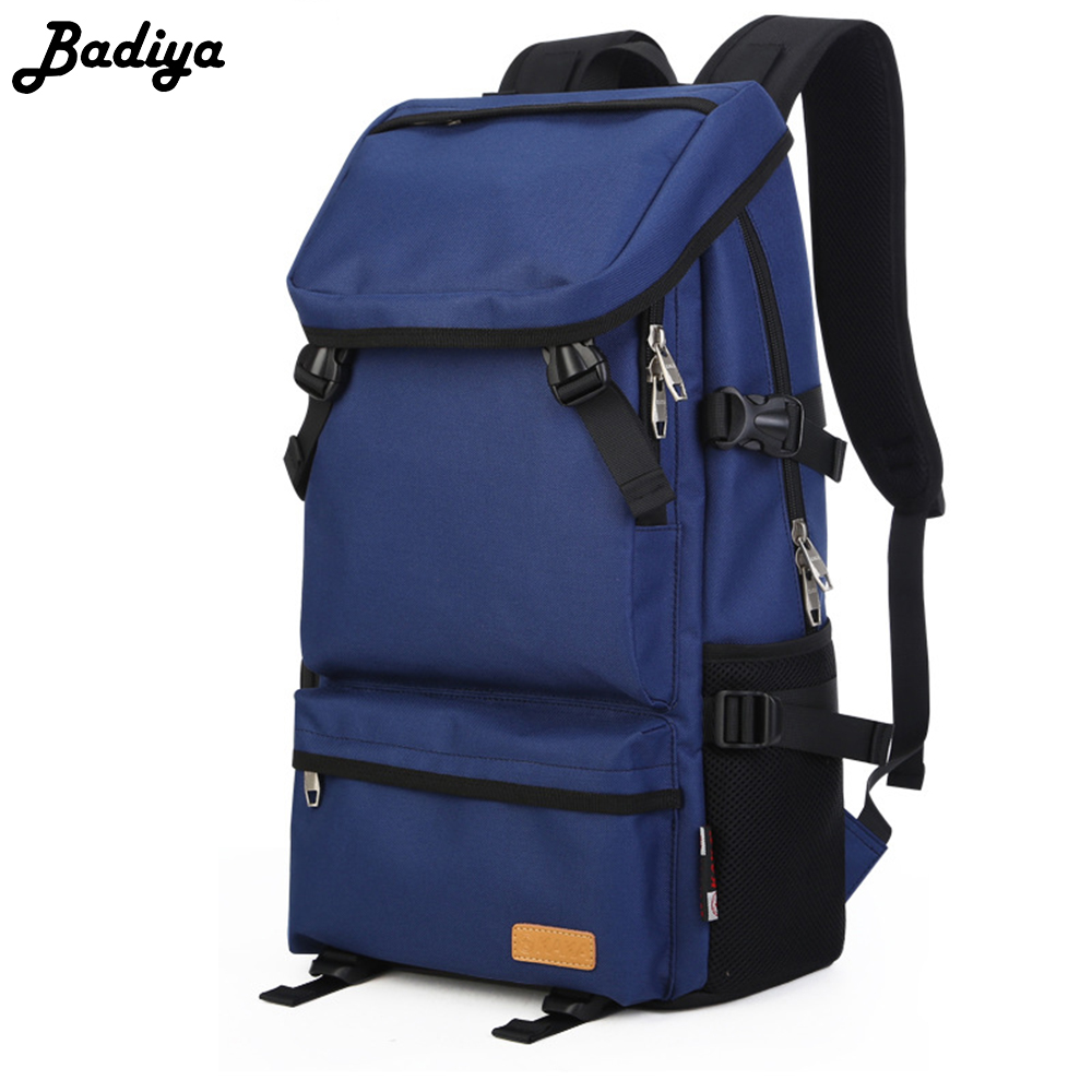 Men's Fashion Travel Cover Backpack Teenager School Bag Brief Oxford Backpacks Solid Color Casual Men Laptop Bags new gravity falls backpack casual backpacks teenagers school bag men women s student school bags travel shoulder bag laptop bags