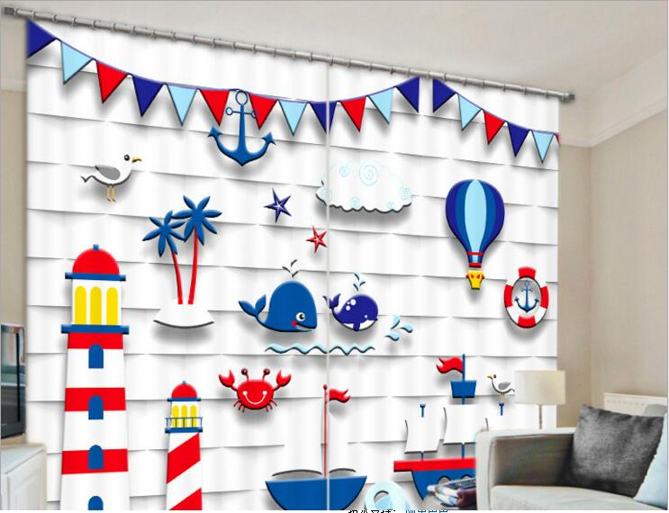 New Modern Blackout Window Curtain Kids 3d Curtains For