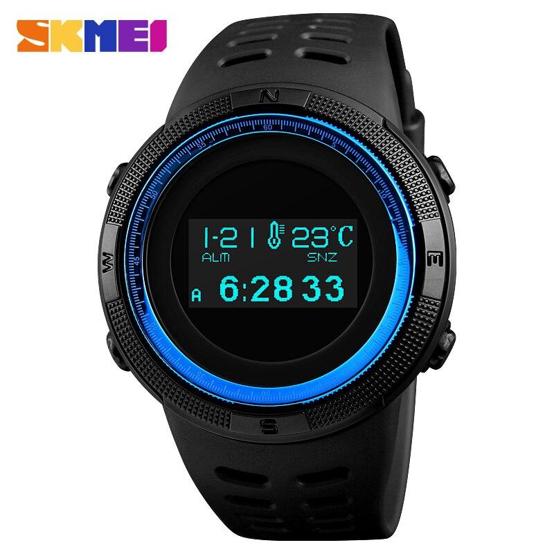 SKMEI Men Sport Watch Pedometer Calorie Digital Watches Top Male Clock Compass Thermometer Wrist Watch Man Relogio Masculino1360