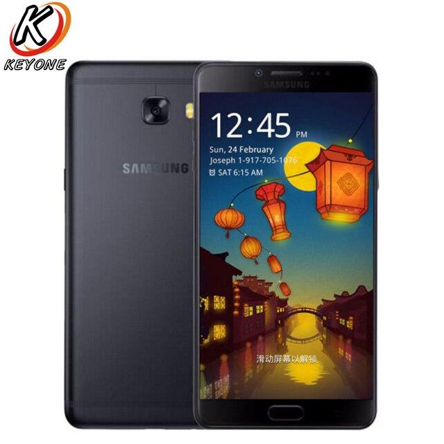 Nouveau téléphone portable SAMSUNG GALAXY C9 Pro C9000 LTE 6.0 pouces 6 go de RAM 64 go ROM Octa Core 16MP 4000 mAh Android 6 téléphone double SIM