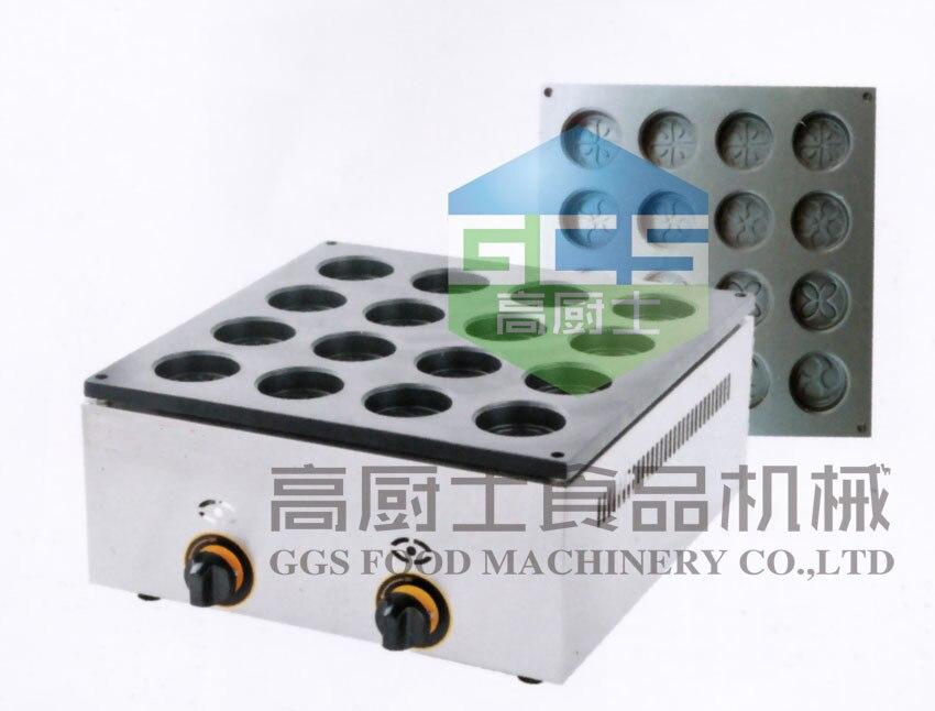 Free shipping gas type 16 hole  layer cake machine ( pattern in bottom )  waffle  machine
