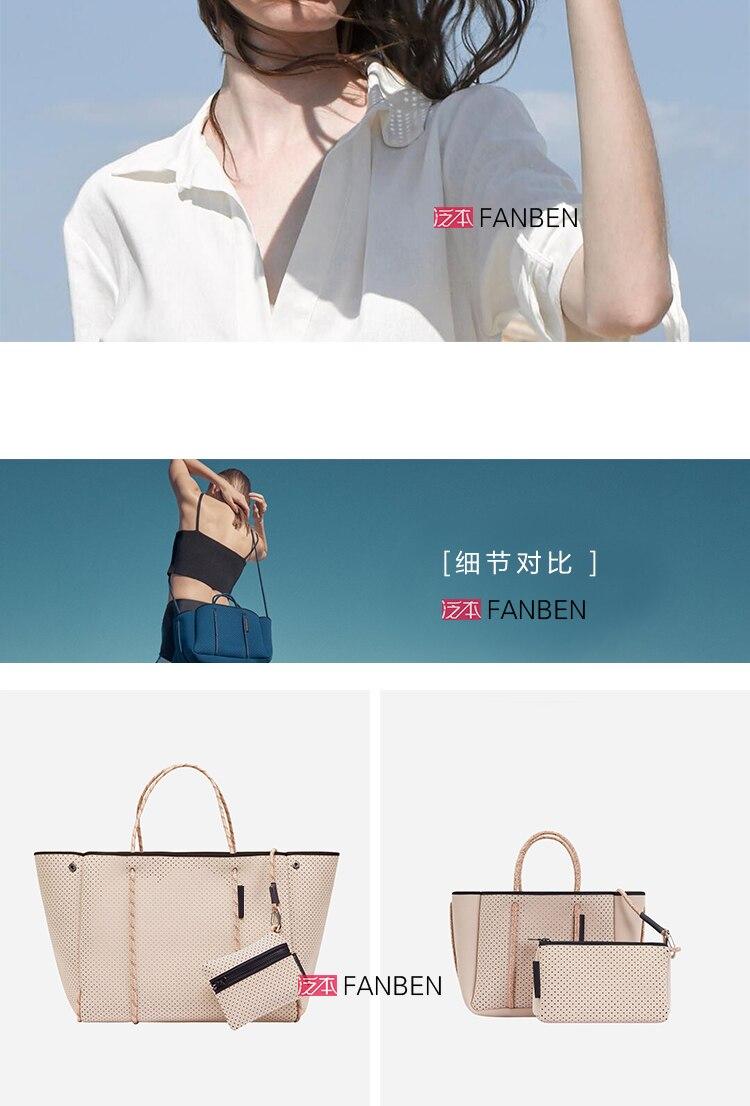 respirável bolsa feminina grande-capacidade marca casual bolsa