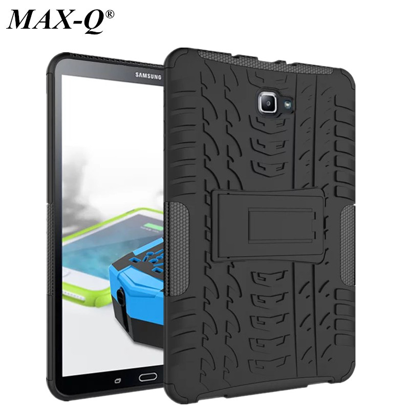 T580 Heavy Duty TPU + Hard plastic Case Cover MAX-Q Protector Stand Tablet For Samsung Galaxy Tab A 10.1 2016 T585 t580 SM-T580