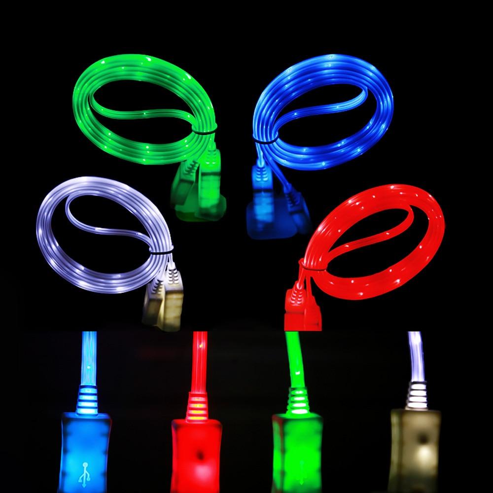 Téléphone Android ligne de charge USB universelle modèle classique nouilles lumineuses