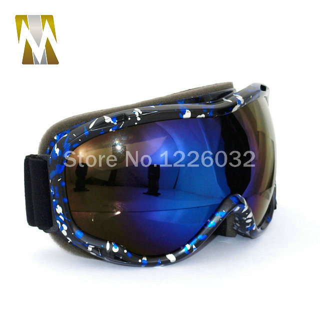 84e7a13f04d Green Frame ski goggles motocross google dual lenses uv400 goggles anti fog  snow skiing glasses snowboard google eyewear-in Motorcycle Glasses from ...