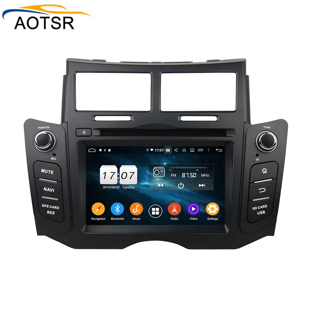 DSP 4 64 Android 9 0 Car DVD Stereo Multimedia head unit For TOYOTA YARIS 2005