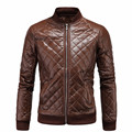 New Arrival 2017 Men Leather Jacket Zipper Design Male lattice Casual PU Jackets High-end mens winter leather jackets Plus Size