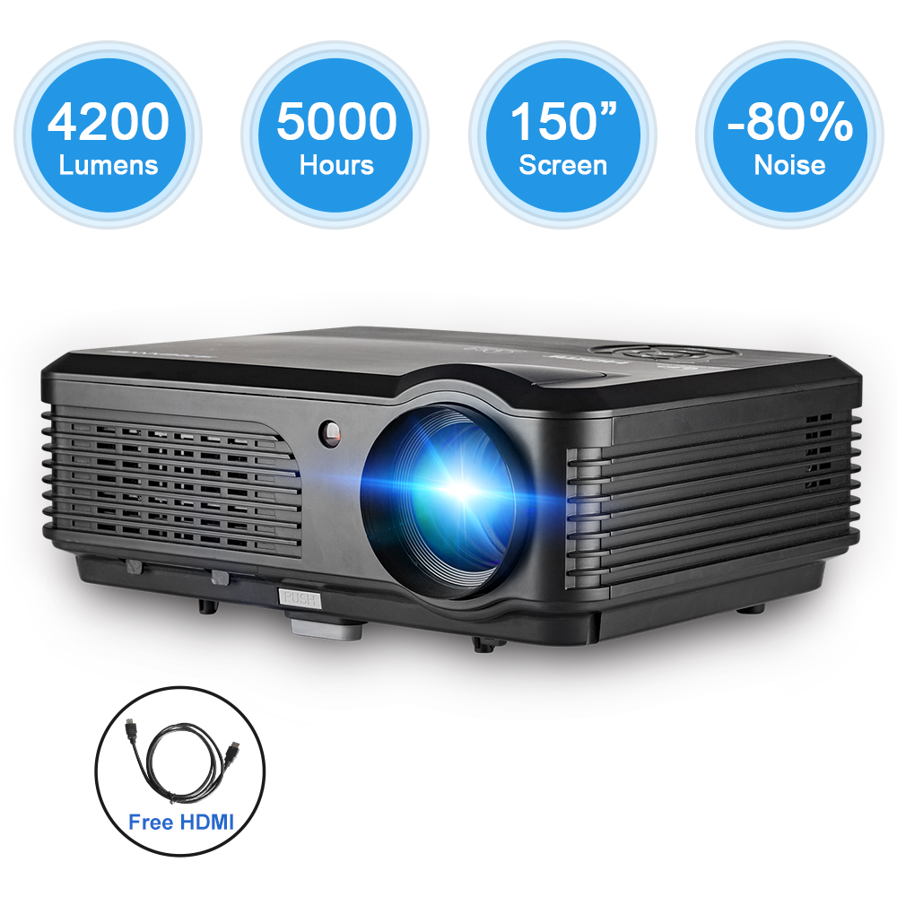Caiwei Digital Led Projector Home Theater Beamer Lcd: CAIWEI LCD LED Home Cinema Projector Full HD Video Mobile