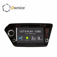 Ownice C500 Android Head Unit Car DVD Multimedia Video player for Kia K2 Rio 2011 2012 GPS Navigator BT radio wifi 4G OBD DVR PC