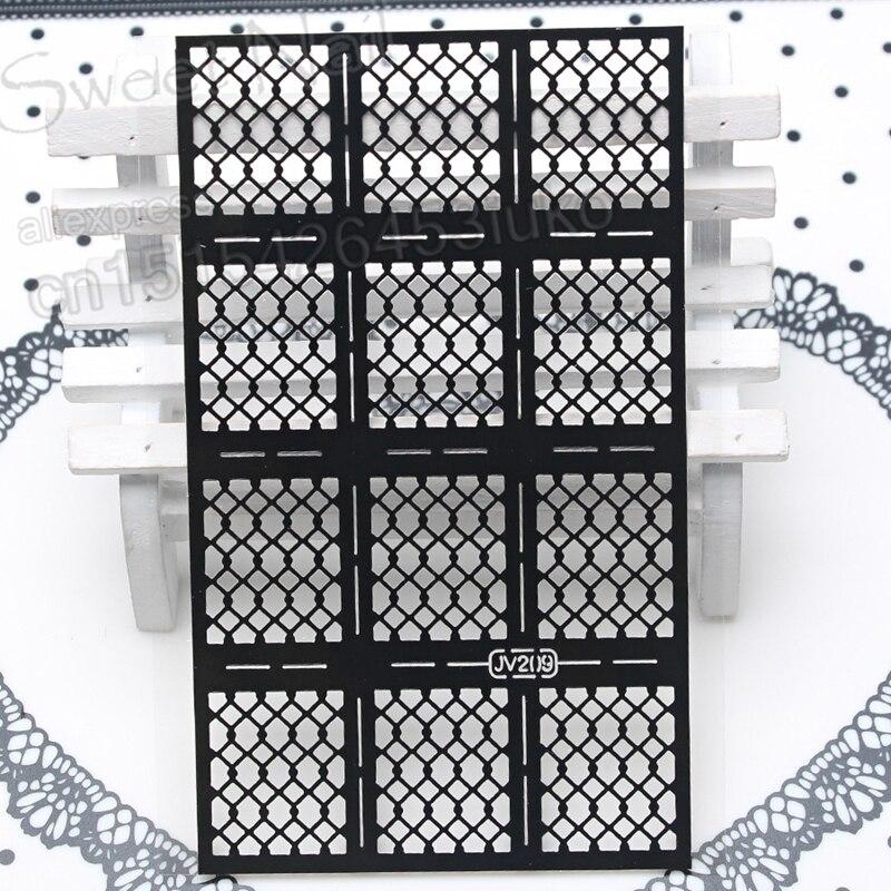 3D-s design varázslatos matricák nyomtatásra stencil - Köröm művészet