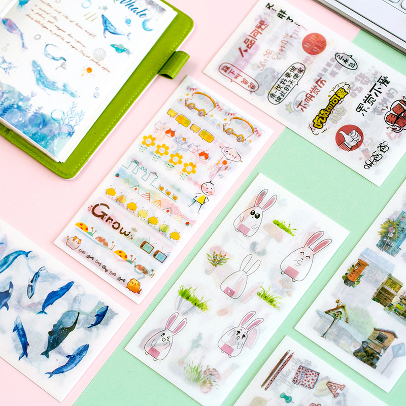 6 pcs/pack Colorful Bullet Journal Decorative Stickers Adhesive Stickers DIY Decoration Diary Stationery Stickers 6 pcs/pack Colorful Bullet Journal Decorative Stickers Adhesive Stickers DIY Decoration Diary Stationery Stickers