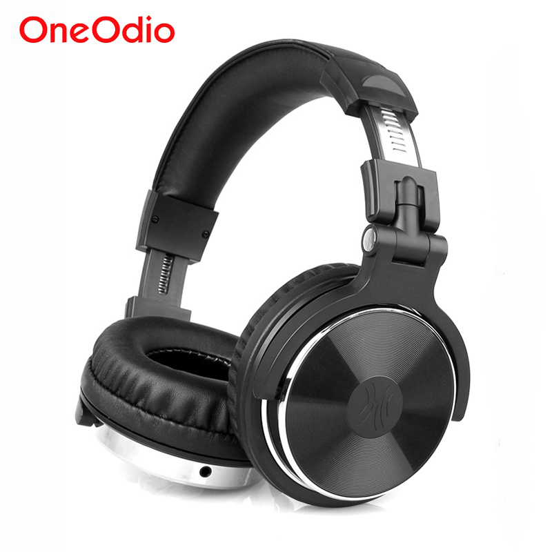 Oneodio Headphones Over-Ear Hifi Studio DJ Headphone Wired Monitor Music Gaming Headset Earphone For Phone Computer PC With Mic super bass gaming headphones with light big over ear led headphone usb with microphone phone wired game headset for computer pc