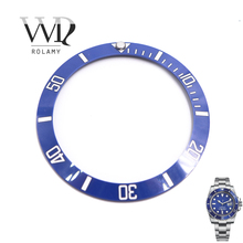 Rolamy Wholesale Replacement Blue With White Writings Ceramic Bezel 38mm Insert made for Submariner GMT 40mm 116610 LN