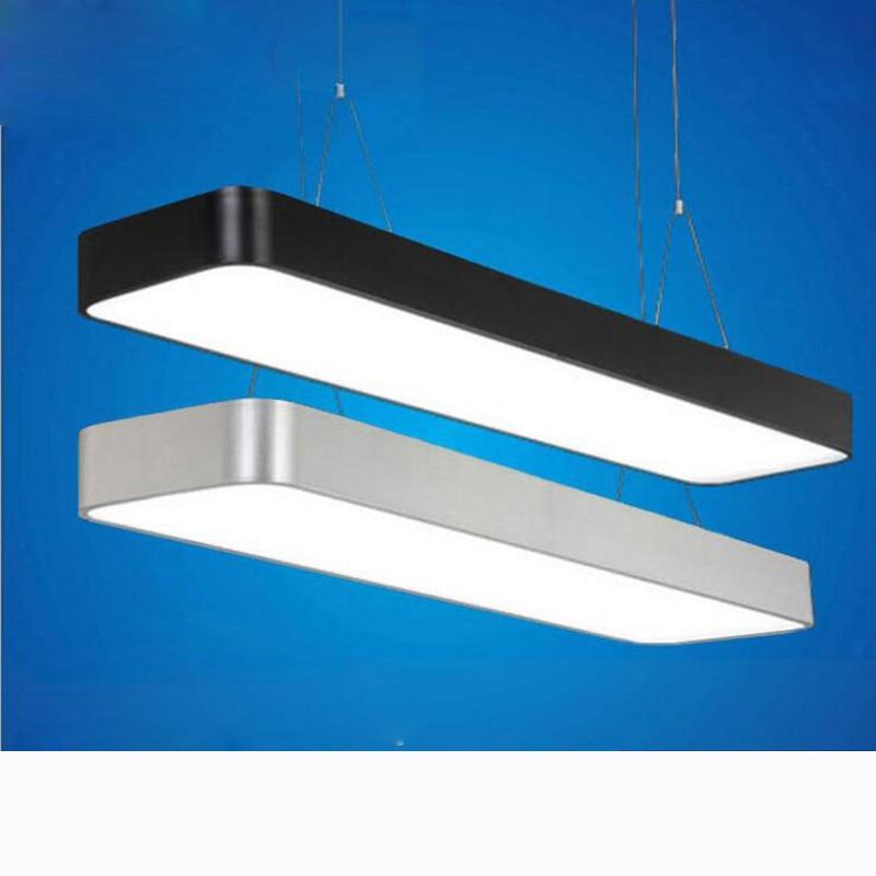 Round led lighting office lights hanging lighting LED aluminum office chandeliers line lamp strip ceiling lamps led lighting цена