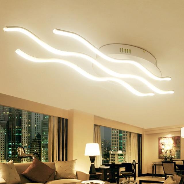 Moderne led deckenleuchten warme kühle weiße luminarias deckenlampe ...