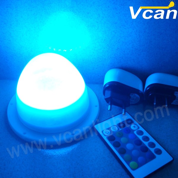 5PCS FAST Free Shipping 38LEDS Super Bright RGB 16 Colors Remote Control Cordless Under Table Light For Wedding Event цена и фото