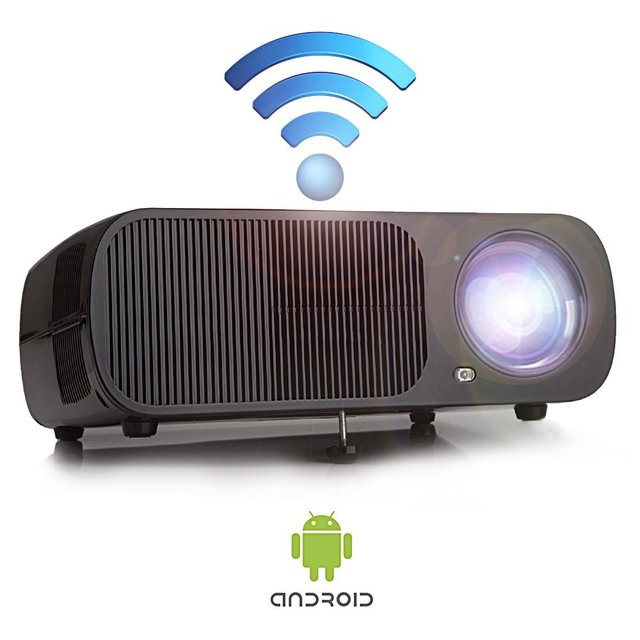Morroto M99 Video Projector with Android Portable 2600 Lumens LED Best LCD Wireless Home Theater Projector Supports HD 1080p