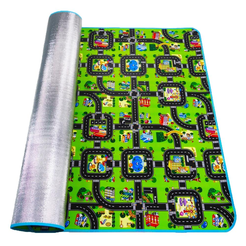 HTB1cLjGXli5K1Rjt hNq6zUDVXaz 4 sizes Thick Town City Blanket Traffic Baby Crawling mat EVA Foam Climbing Pad Green Road Child Play Mat Carpet for Baby