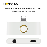 For Iphone X 10 8 Home Button Audio Adapter Support Home Key And Audio Jack Listening