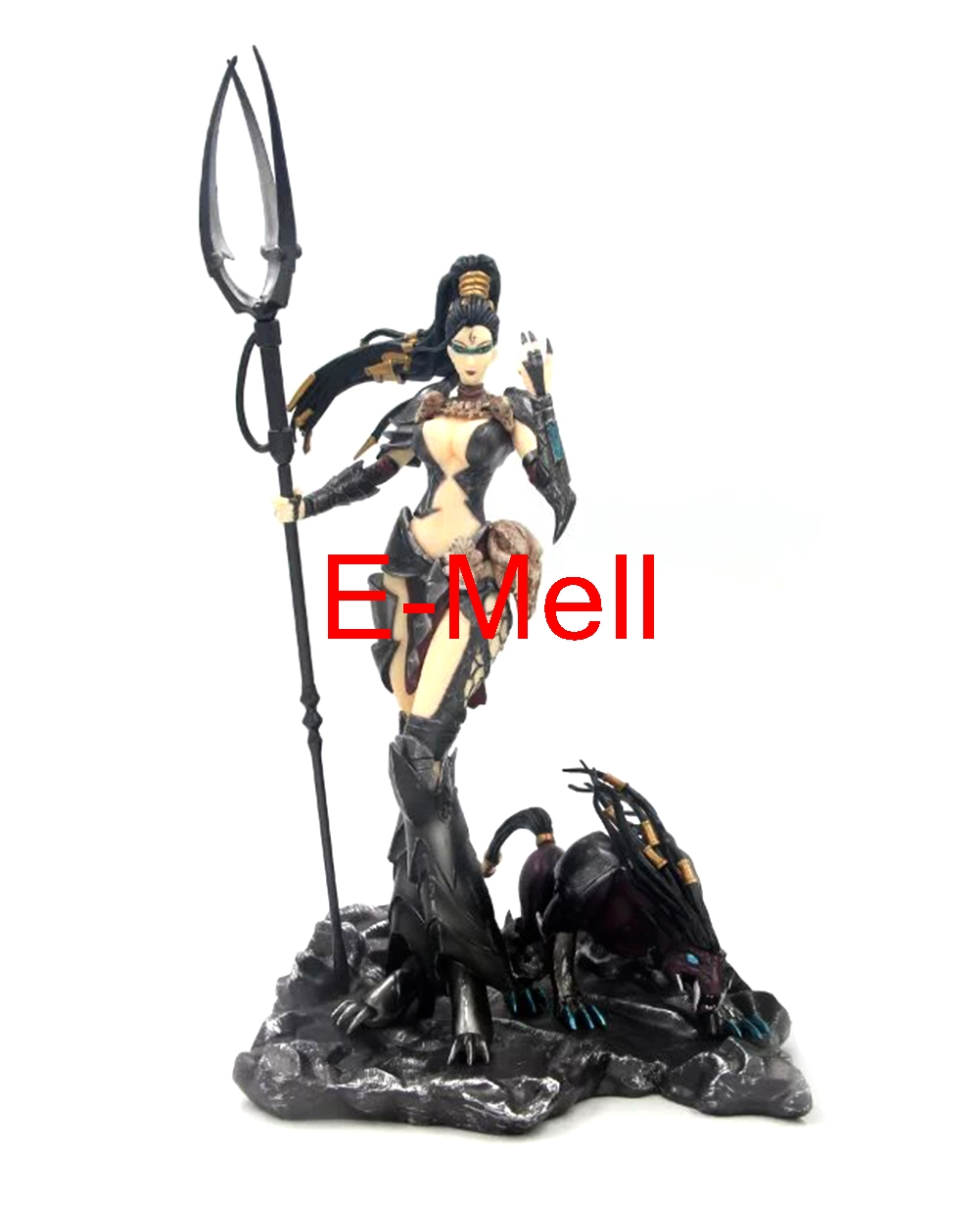 LOL Cosplay 17cm/6.7'' Nidalee the Bestial Huntress PVC GK Garage Kits Action Figures Toys Model made for lol cosplay the loose cannon jinx 24cm 9 5 middle pvc gk action figures toys garage kits standing model