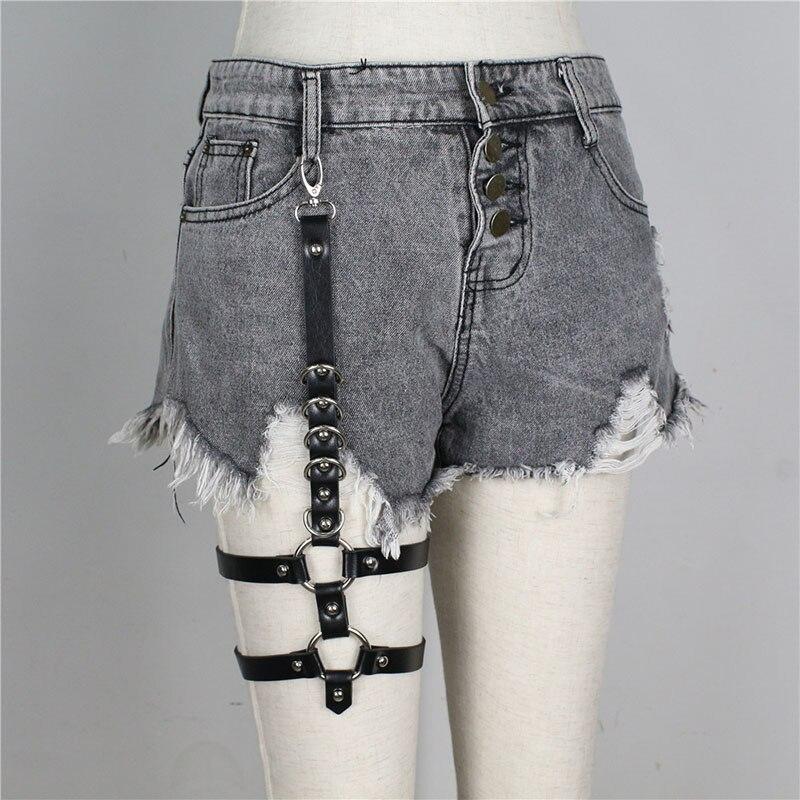 UYEE Трендовое сексуальное женское белье ремень Регулируемый кожаный подвязка для женщин эротический пояс для тела подтяжки жгут LB-007 - Цвет: LP-036