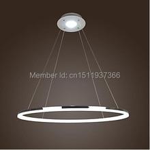 Anillo de LED 80 CM 35 w El Diámetro Es de 80 cm de Lujo Moderno Diseño Simple Mini Colgante Living LED Anillo envío Gratis