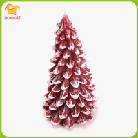 LX MOULD 2019 new fir tree silicone mold home decoration Christmas candle pine mold