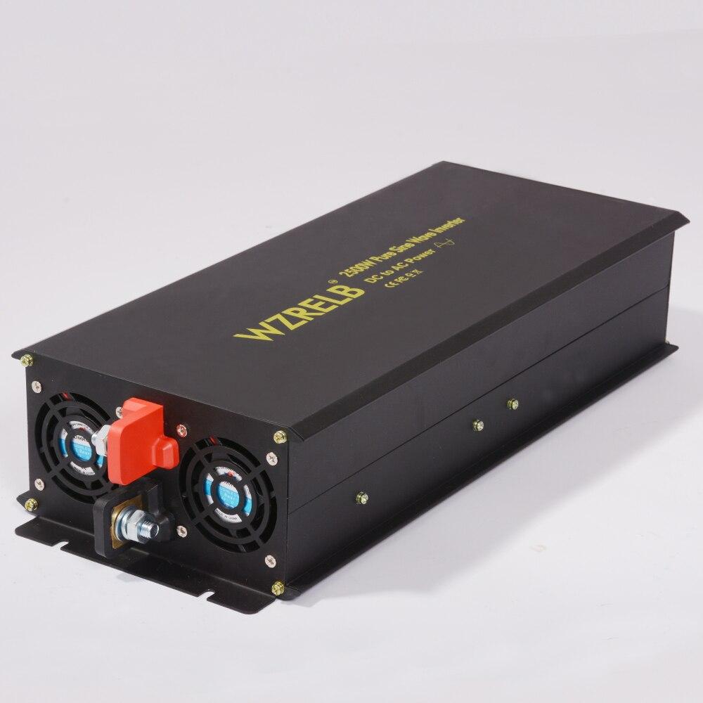 New Pure Sine Wave Inverter 12V 220V 2500W Solar Power Inverter Car Inverter 12V/24V/48V/110V DC to 110V/120V/240V AC Converter 2000w pure sine wave solar power inverter dc 12v 24v 48v to ac 110v 220v