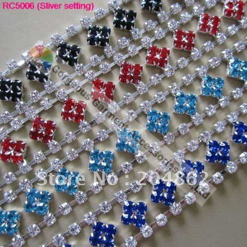 10yd 20mm Sapphire Aquamarin Lt Siam Emerald Diamond Chain Crystal Rhinestone Trim Banding For DIY Browband Costume Decoration