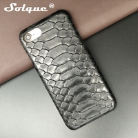 Luxury Genuine Cowhide Leather Snake Pattern Back Cover For Apple IPhone6 IPhone 6 Plus Mobile Smart