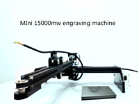 Компактный лазерный гравер 445 ~ 450нм 15 Вт DIY Лазерный Гравер 15000 МВт станок для лазерной резки гравировальный станок с ЧПУ принт для резки кожи